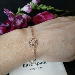 Kate Spade NWOT Rose Gold Rose Link Bracelet